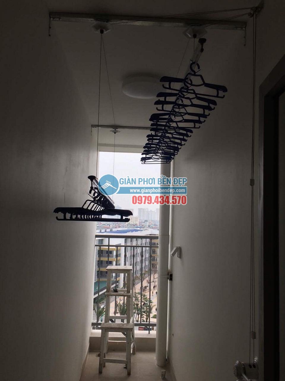 Lắp đặt giàn phơi thông minh nhà chị Lan, Park Hill- Time City