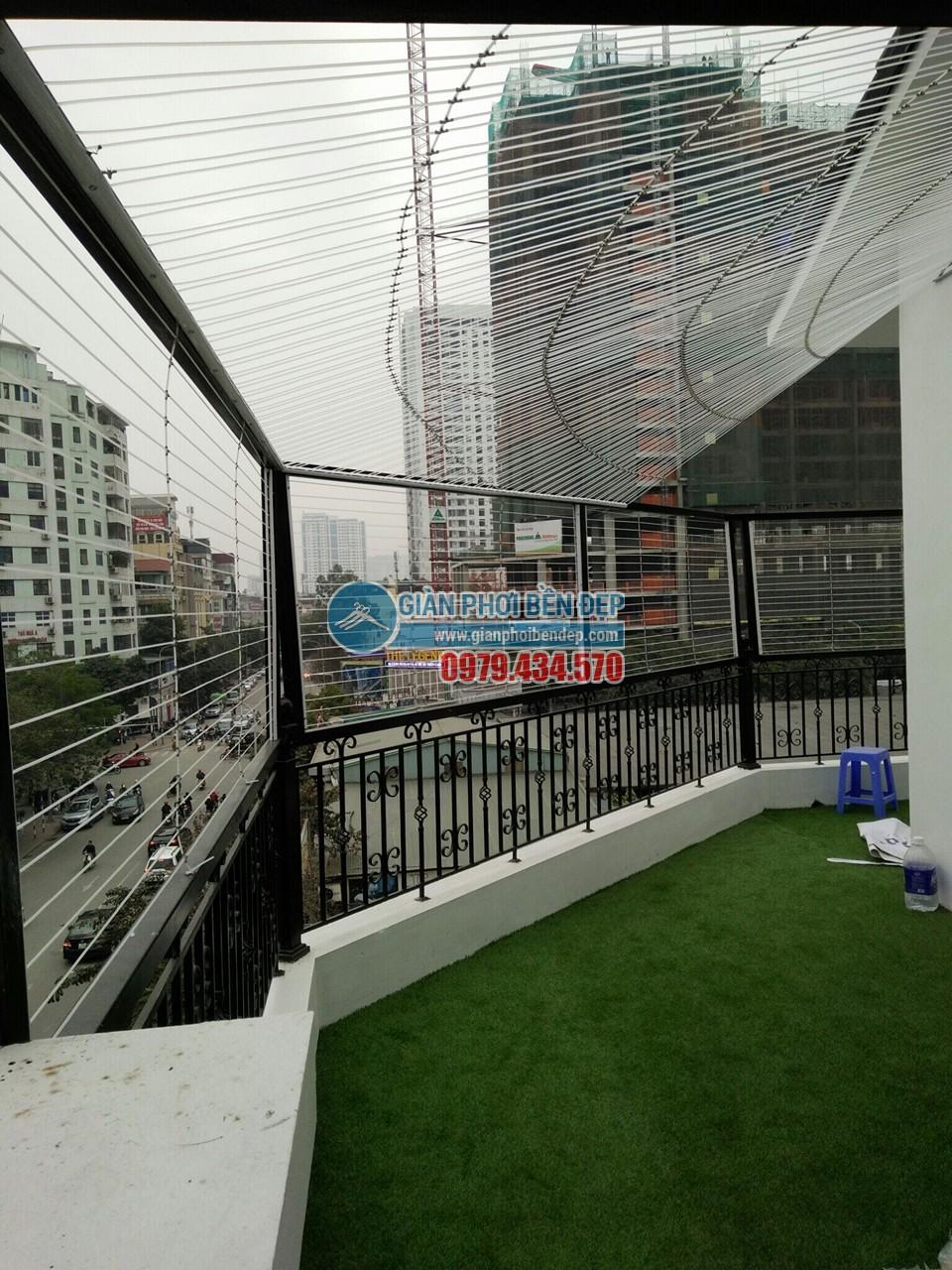 Quy trình làm lưới an toàn biệt thự tại tầng thượng nhà chú Trung