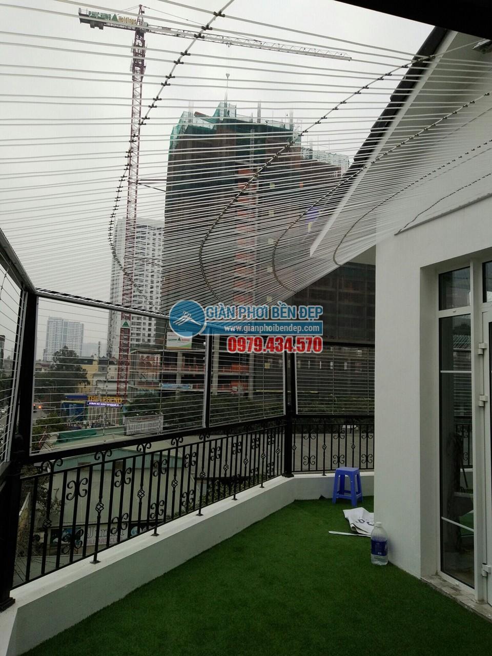 Làm lưới an toàn biệt thự tại tầng thượng nhà chú Trung, KĐT Mỗ Lao Hà ĐôngLàm lưới an toàn biệt thự tại tầng thượng nhà chú Trung, KĐT Mỗ Lao Hà Đông