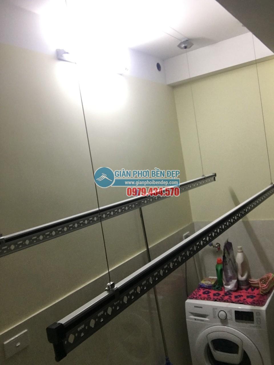 Lắp đặt giàn phơi thông minh nhà chị Hà, Lĩnh Nam