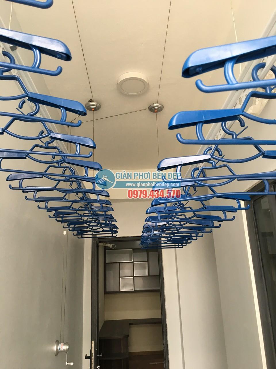 Lắp bộ giàn phơi thông minh cao cấp nhà chị Nhật, chung cư NO1-T3
