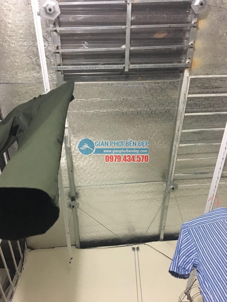 Lắp giàn phơi thông minh ở sân phơi trần mái tôn nhà anh Nam
