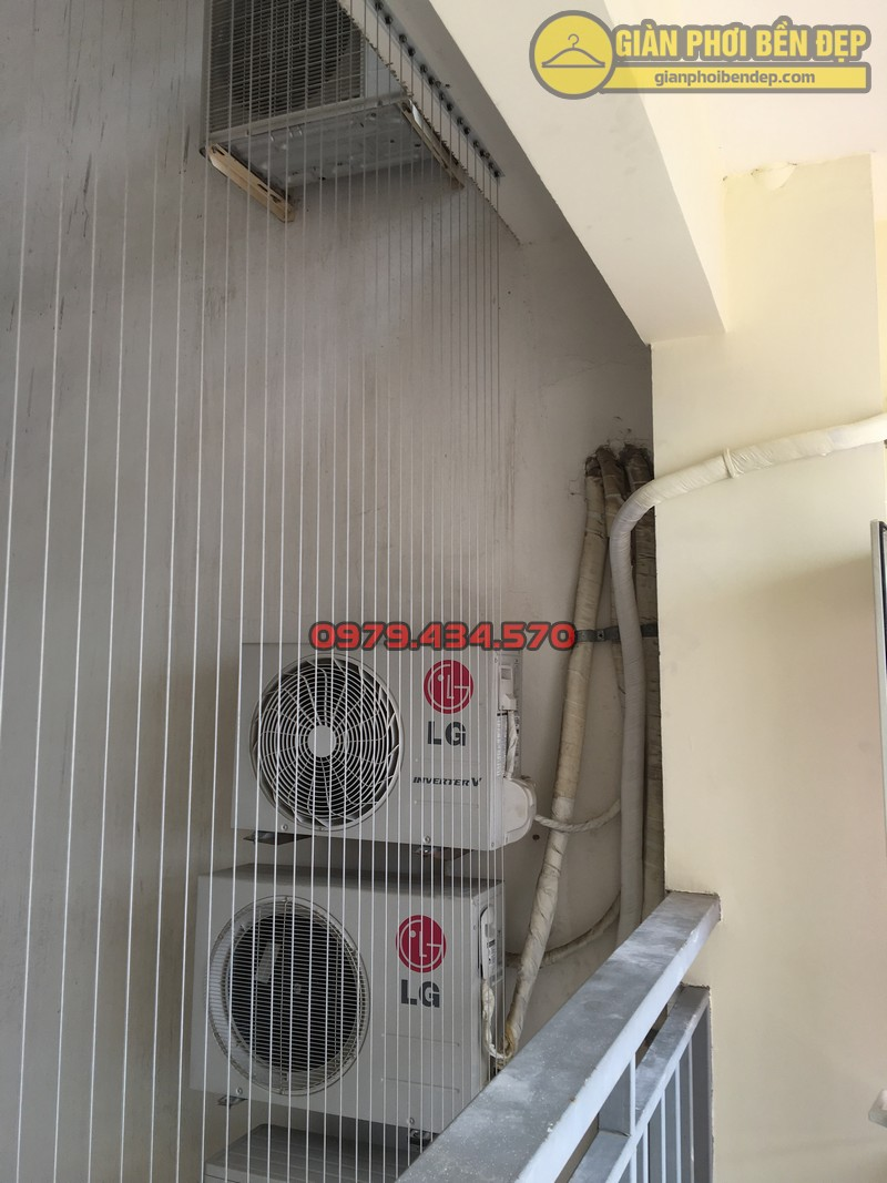 Lắp giàn phơi kết hợp lưới an toàn ban công nhà anh Hoàng KĐT Làng Quốc Tế Thăng Long-06
