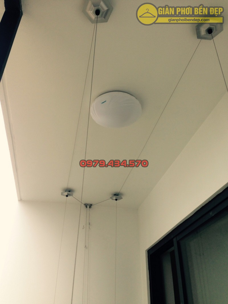 Lắp đặt giàn phơi nhà anh Hà chung cư Five Star - số 2 Kim Giang-02