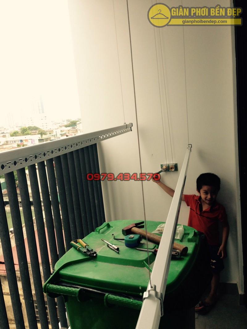 Lắp đặt giàn phơi nhà anh Hà chung cư Five Star - số 2 Kim Giang-04