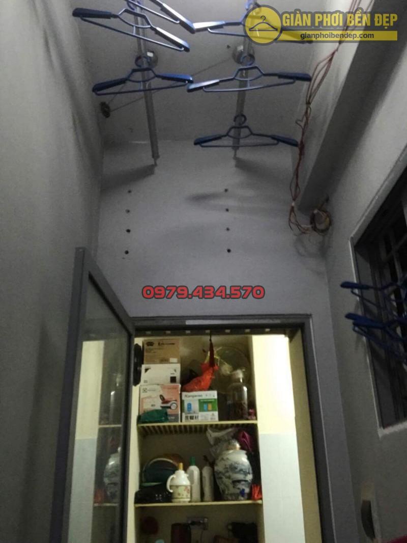 Thay dây cáp giàn phơi nhà chị Hiền chung cư Mipec - Kiến Hưng - Hà Đông-08