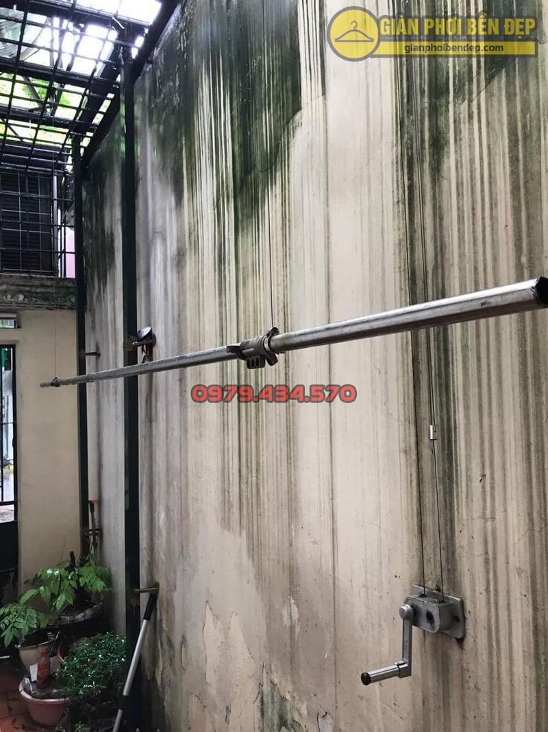 Sửa lỗi đứt dây cáp giàn phơi thông minh nhà cô Hồng khu B2A khu tập thể Thành Công-06