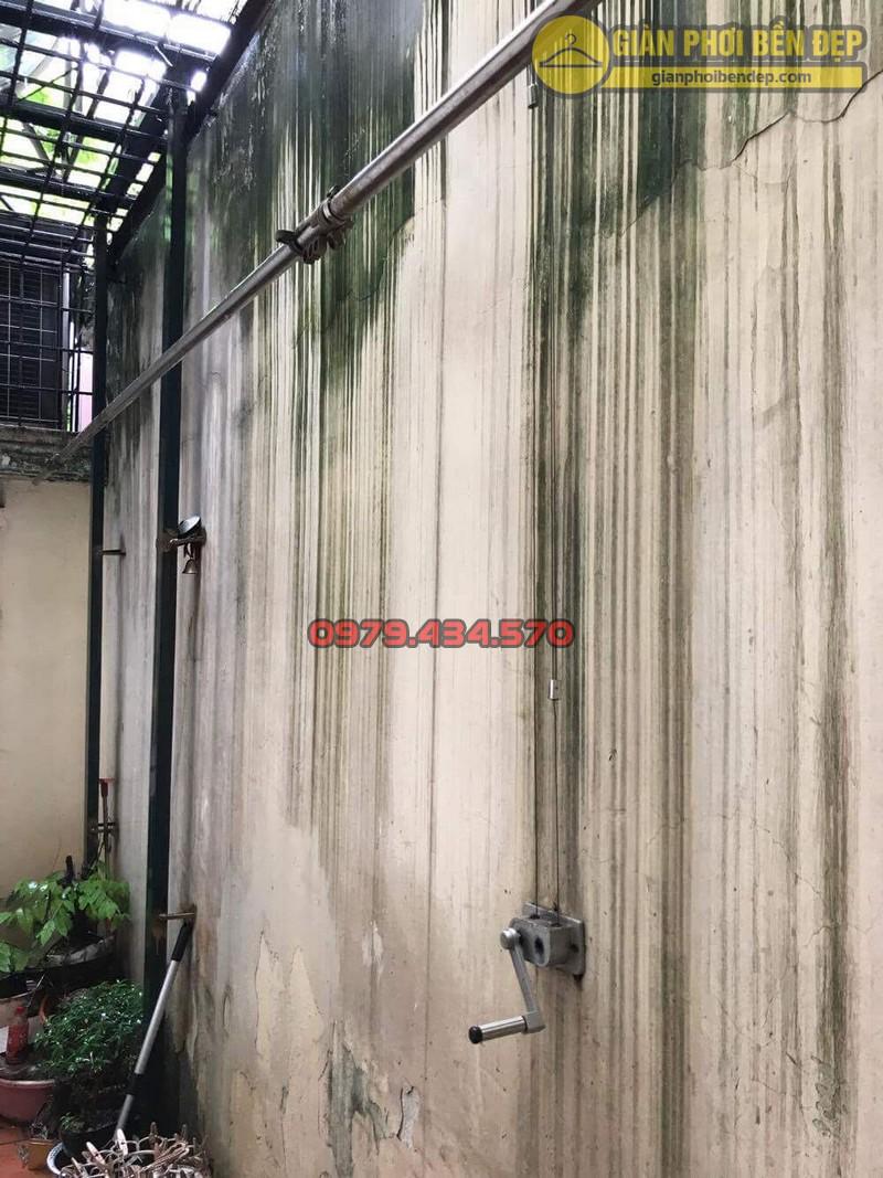 Sửa lỗi đứt dây cáp giàn phơi thông minh nhà cô Hồng khu B2A khu tập thể Thành Công-07