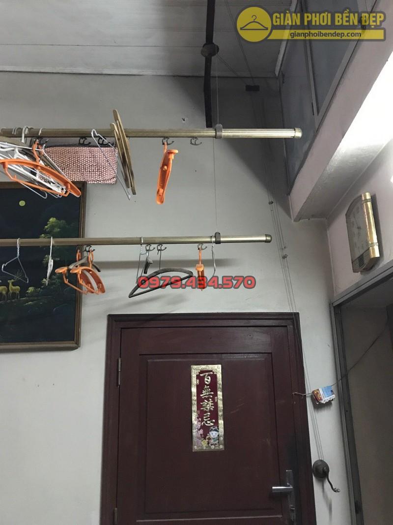 Thay dây cáp giàn phơi thông minh nhà cô Lành, Hoàng Quốc Việt-02