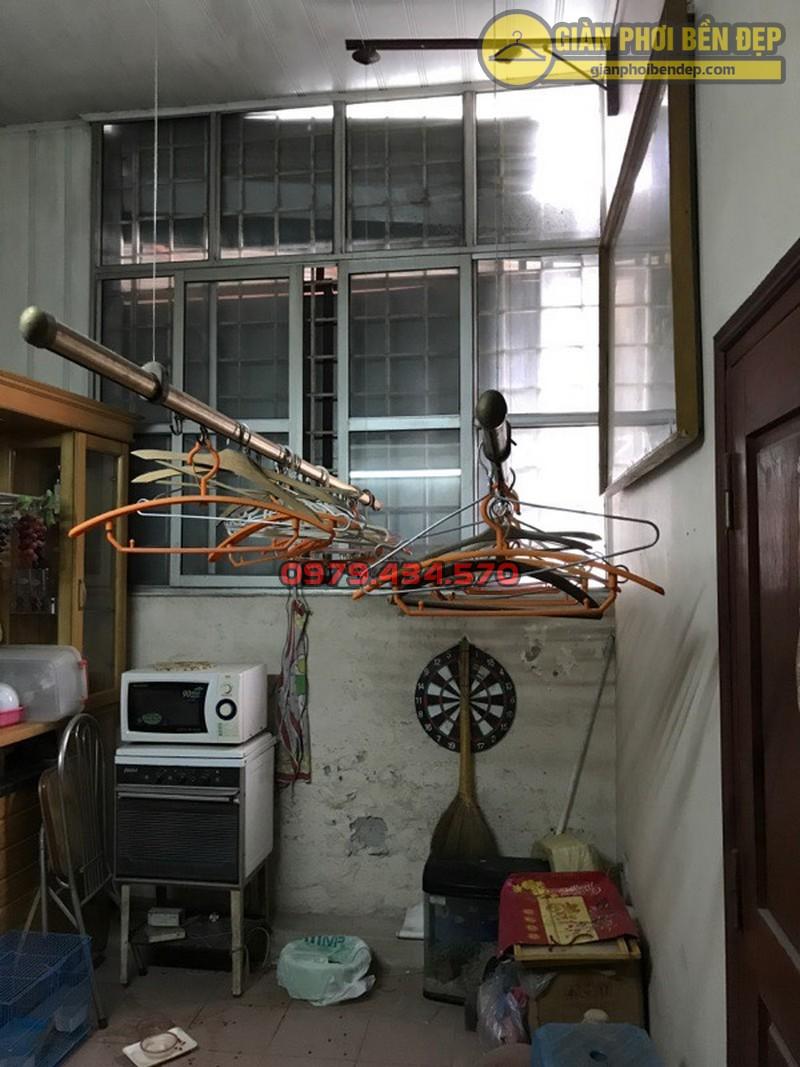 Thay dây cáp giàn phơi thông minh nhà cô Lành, Hoàng Quốc Việt-05