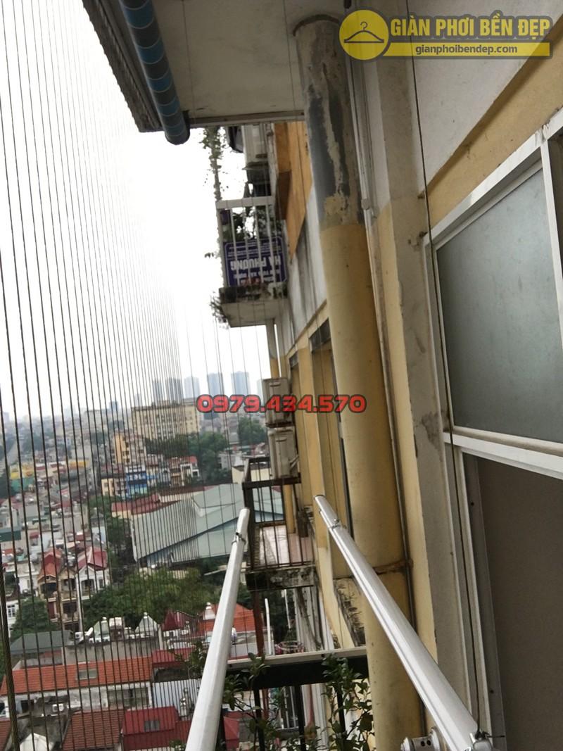 Lắp bộ giàn phơi Hòa Phát cao cấp ở bạn công rộng 1m nhà anh Tài, N05 Trần Đăng Ninh