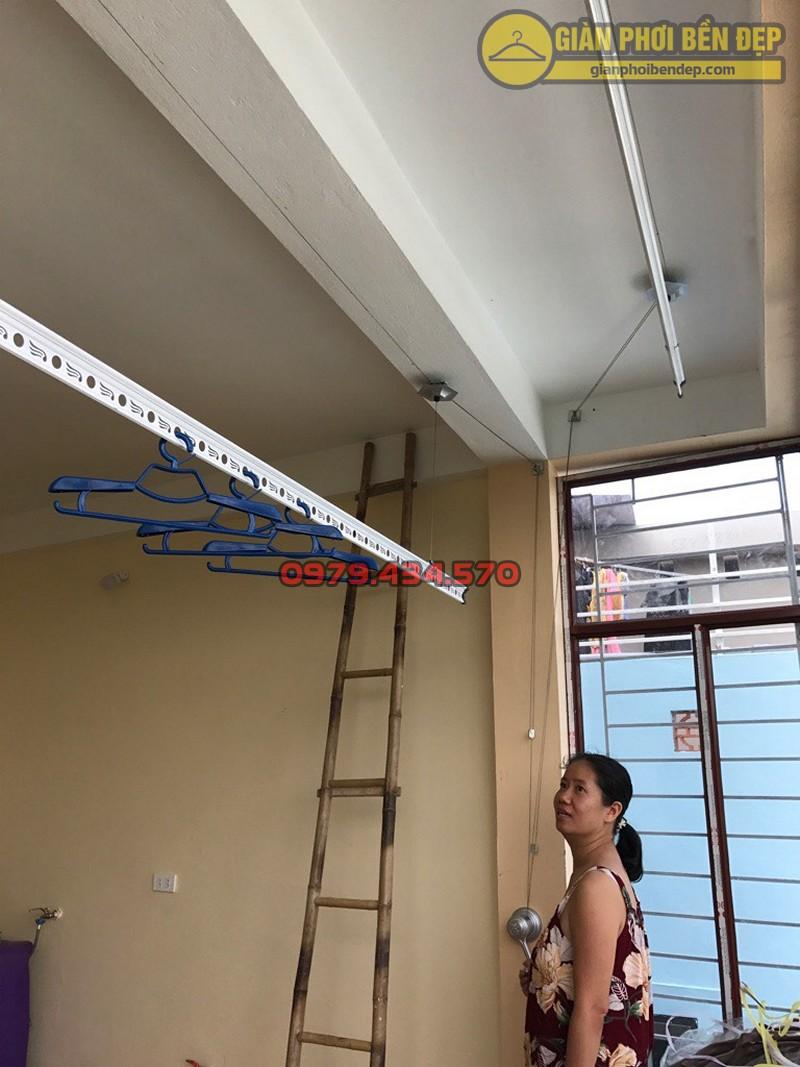 Hình ảnh thực tế về bộ giàn phơi Hòa Phát Star cao cấp nhà cô Hiền