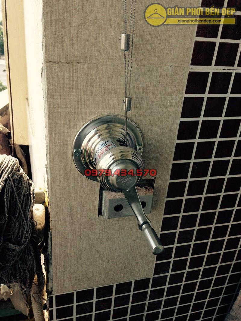 Hình ảnh thực tế về bộ giàn phơi thông minh nhà cô Thanh