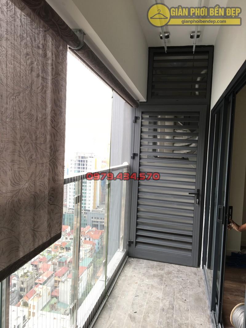 Lắp giàn phơi thông minh nhà chị Trầm chung cư 143 Nguyễn Tuân-03