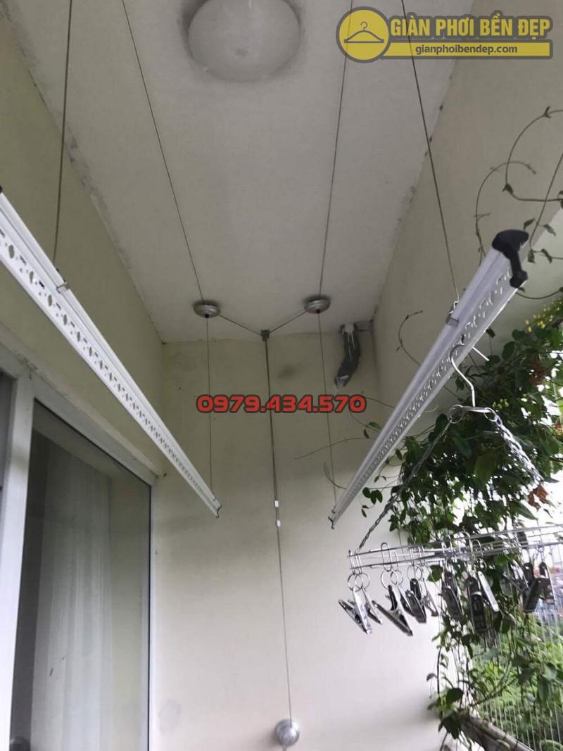 Lắp giàn phơi KS950 nhà cô Thúy chung cư viện 103, Hà Đông-11