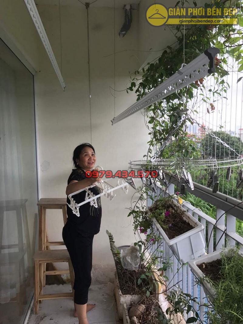 Lắp giàn phơi KS950 nhà cô Thúy chung cư viện 103, Hà Đông-03