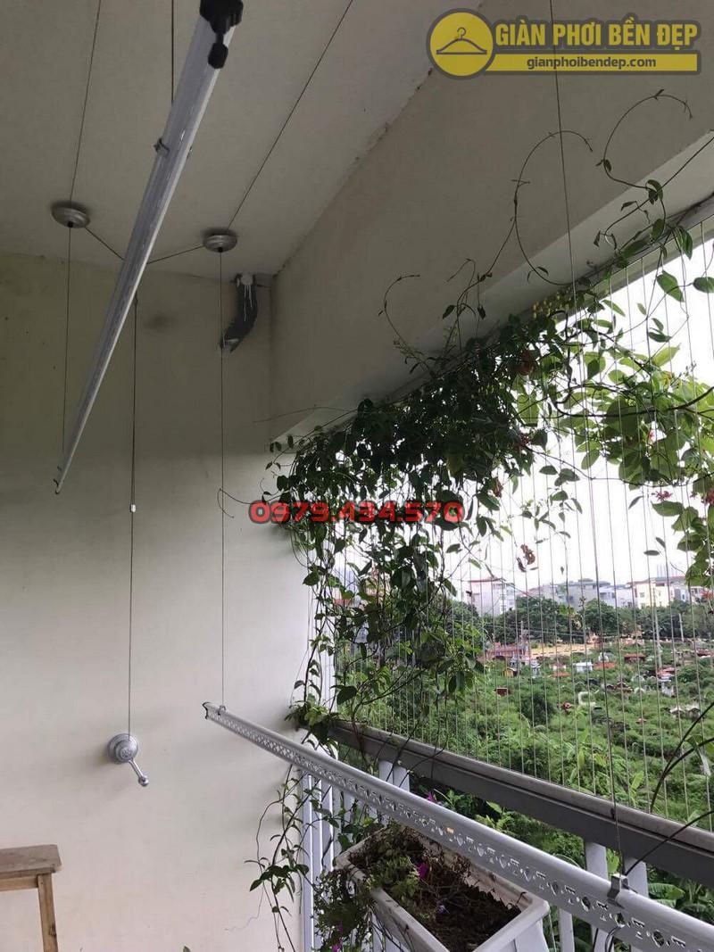 Lắp giàn phơi KS950 nhà cô Thúy chung cư viện 103, Hà Đông-04