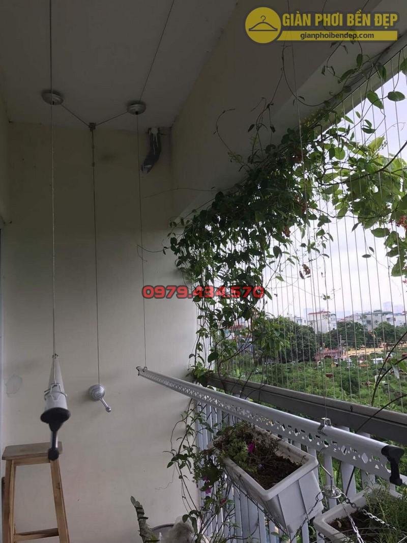 Lắp giàn phơi KS950 nhà cô Thúy chung cư viện 103, Hà Đông-05