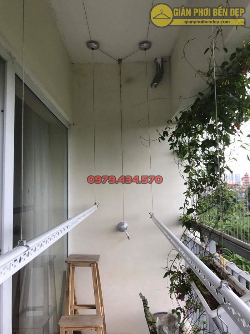Lắp giàn phơi KS950 nhà cô Thúy chung cư viện 103, Hà Đông-06