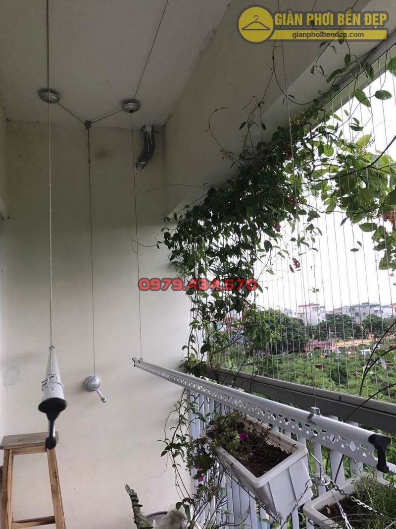 Lắp giàn phơi KS950 nhà cô Thúy chung cư viện 103, Hà Đông-07