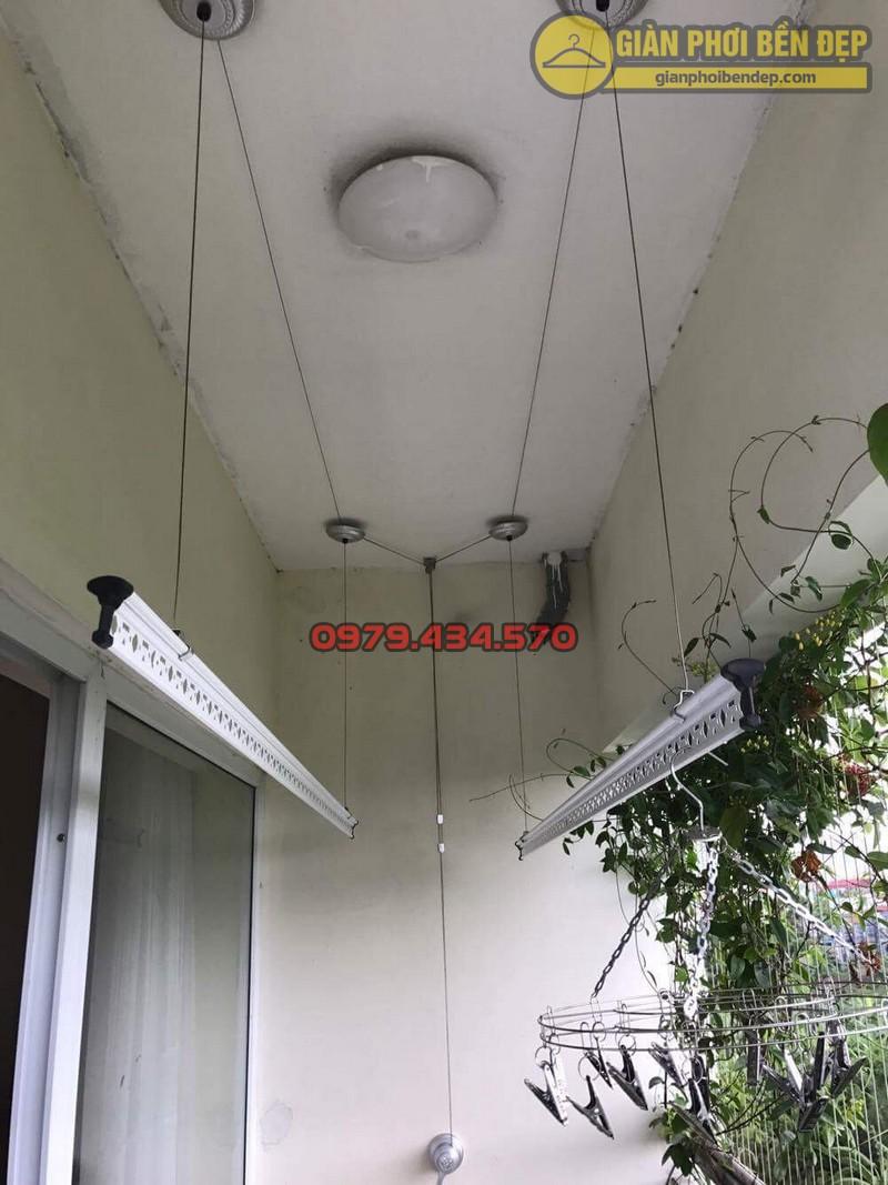 Lắp giàn phơi KS950 nhà cô Thúy chung cư viện 103, Hà Đông-09
