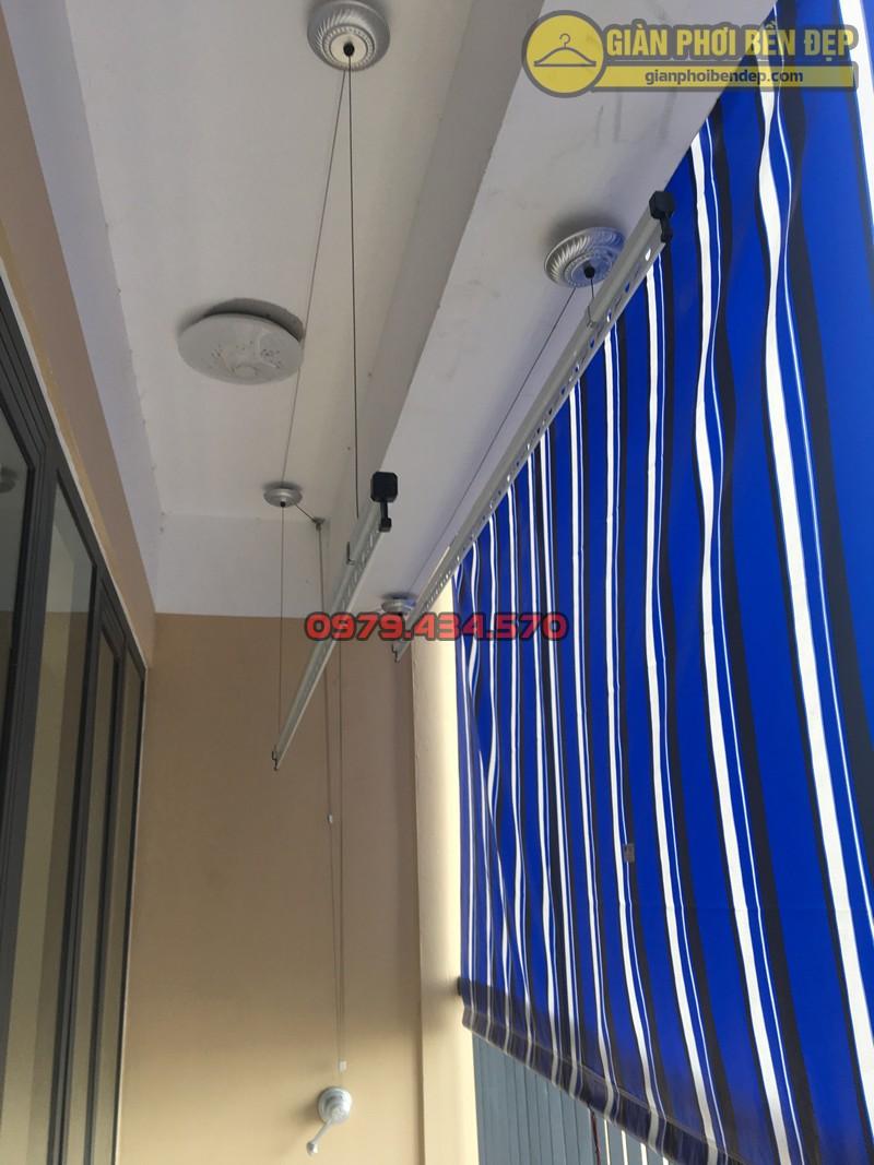 Lắp giàn phơi Duy Lợi tại ban công dài hẹp nhà cô Hồng, CT36 Dream Home