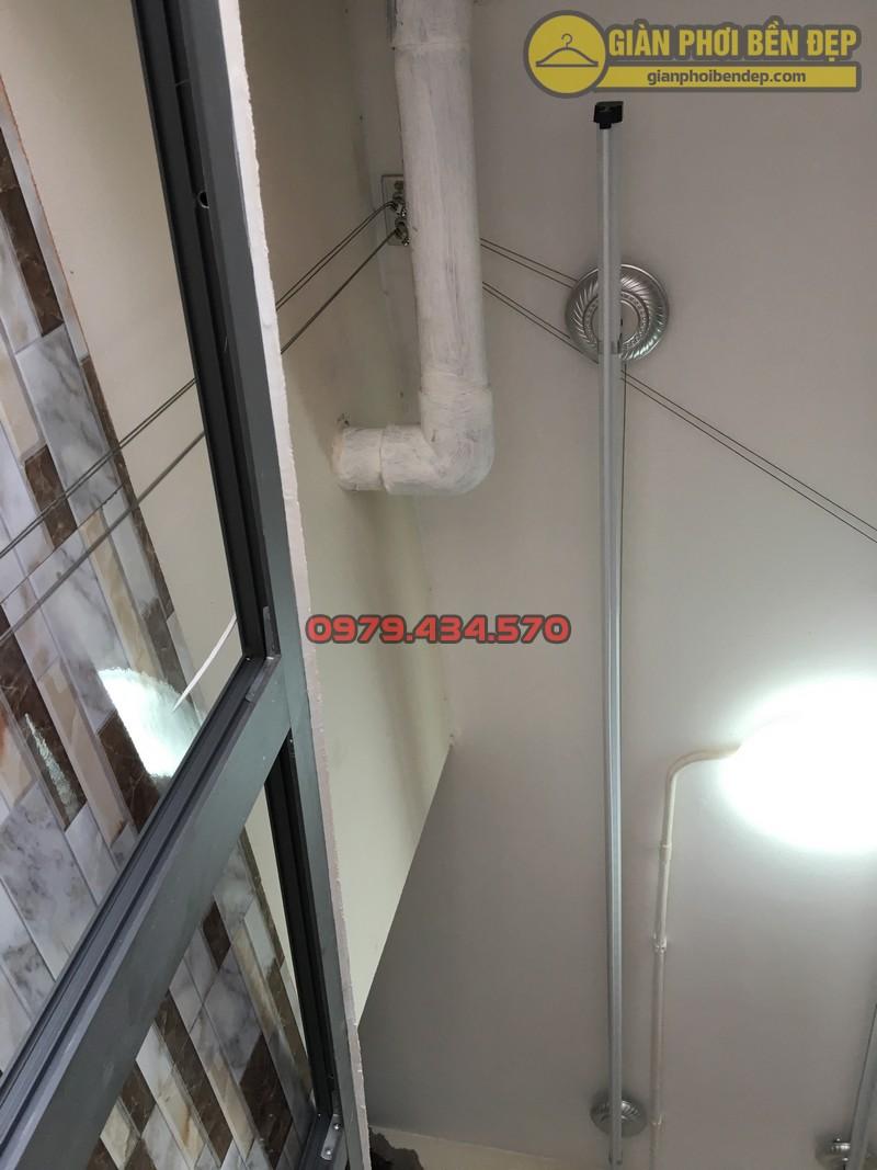 Lắp giàn phơi thông minh tại lô gia nhà anh Hưng tòa V2 chung cư Home City-02