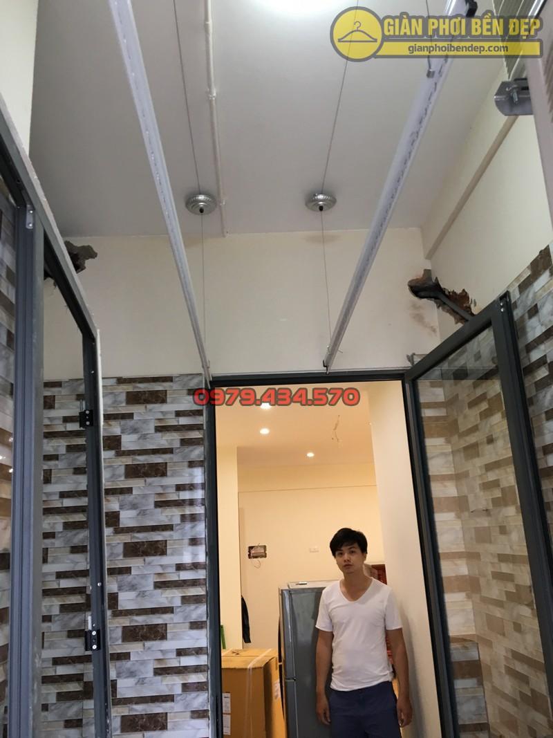 Lắp giàn phơi thông minh tại lô gia nhà anh Hưng tòa V2 chung cư Home City-06