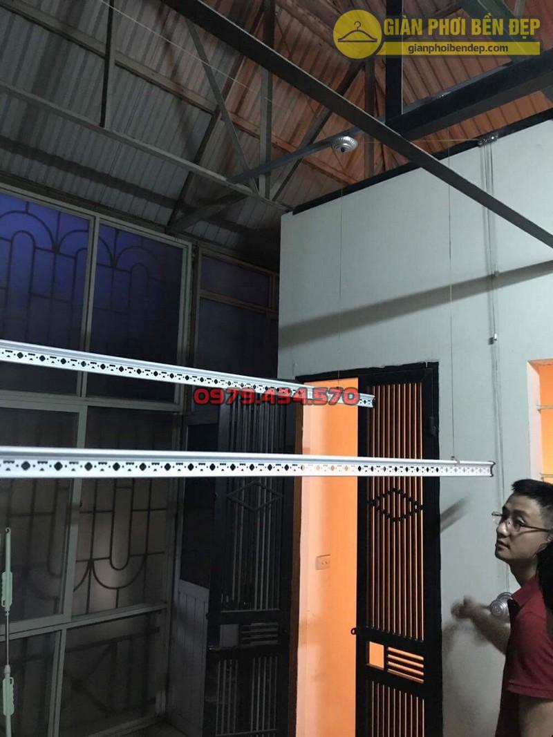 Lắp giàn phơi cho trần mái tôn nhà anh Hiển tại Thái Phiên, Lê Đại Hành-03