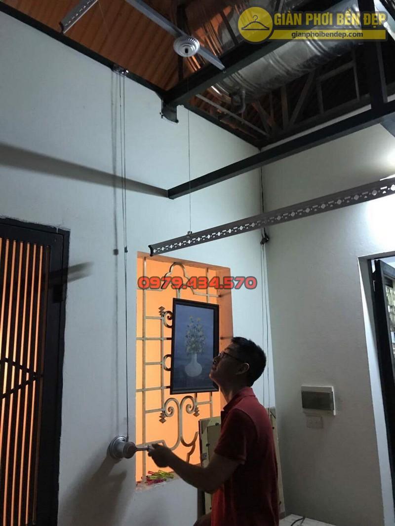 Lắp giàn phơi cho trần mái tôn nhà anh Hiển tại Thái Phiên, Lê Đại Hành-05