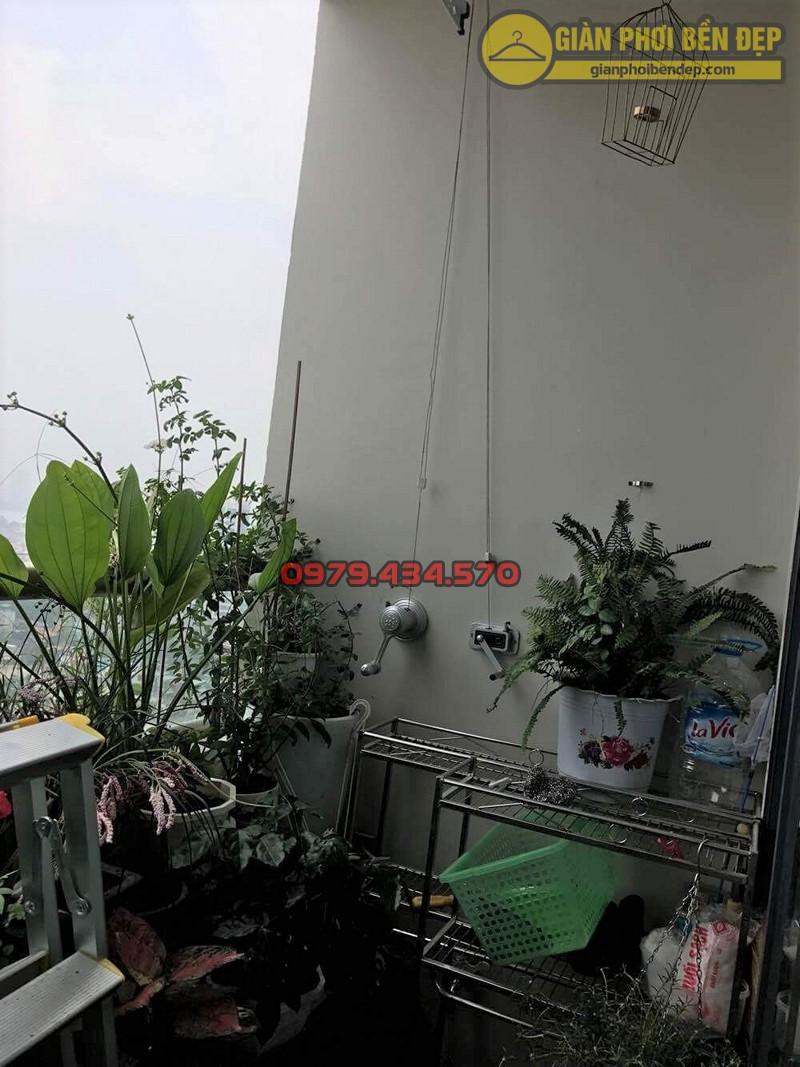 Hình ảnh thực tế của bộ giàn phơi Duy Lợi nhà cô Bình