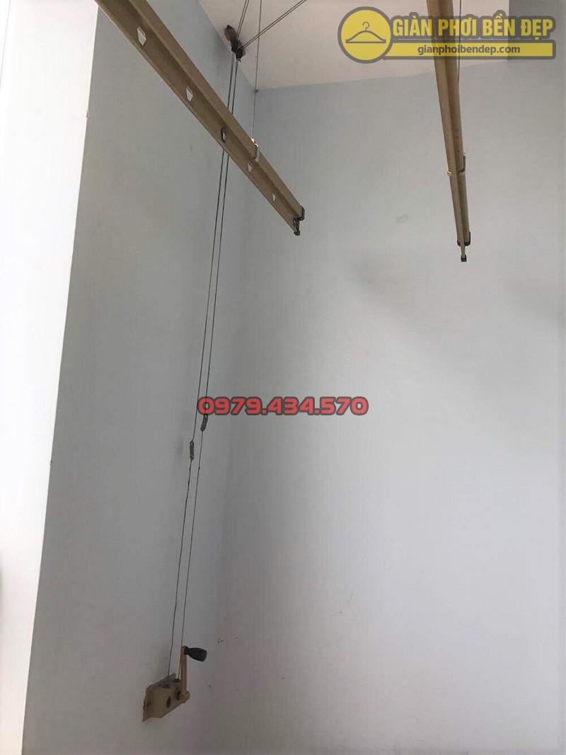 Bộ giàn phơi Hòa Phát Air nhà cô Thảo sau khi được khắc phục sự cố