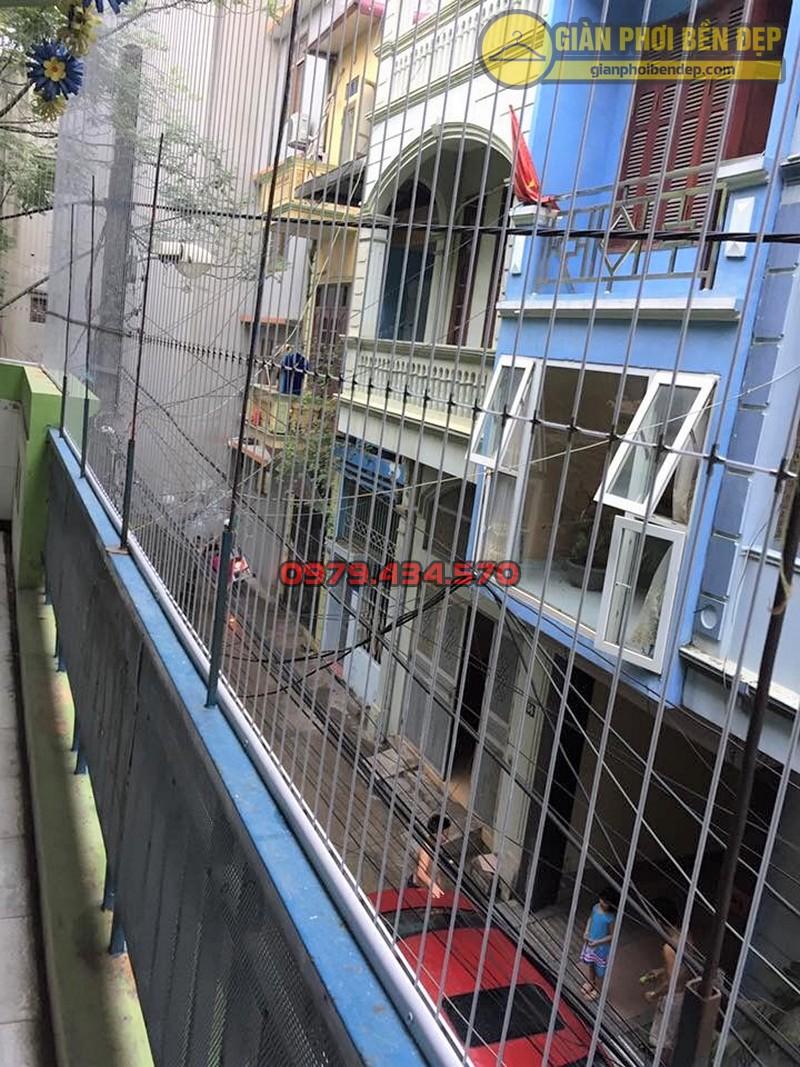 Làm lưới an toàn ban công trường mầm non Ban Mai Xanh