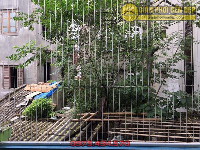 Làm lưới an toàn ban công trường mầm non Ban Mai Xanh ở Trung Hòa, Cầu Giấy