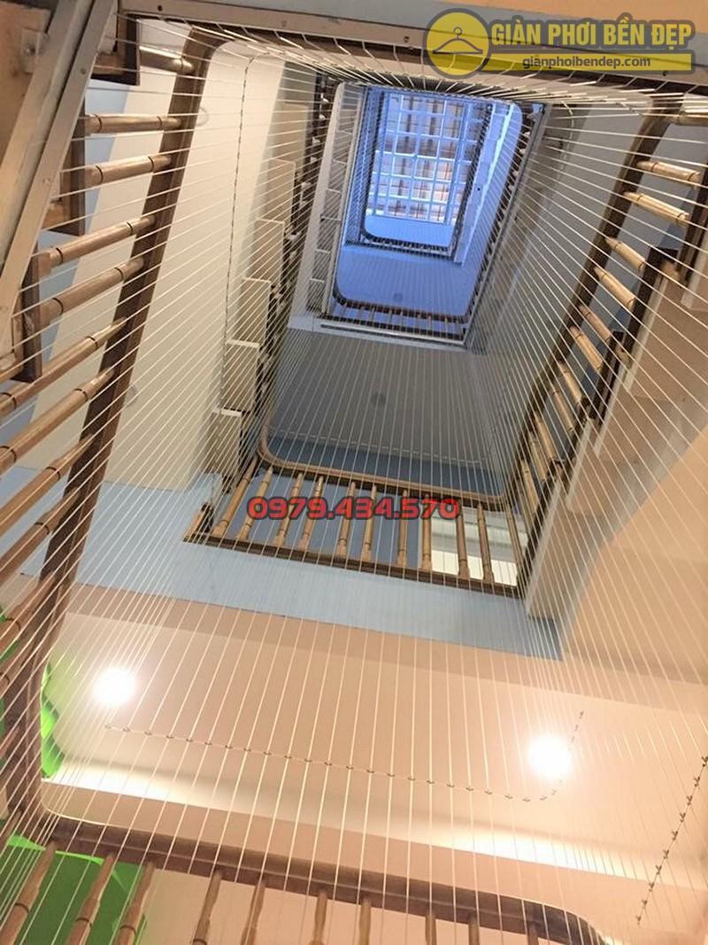 Làm lưới an toàn cầu thang cho trường mầm non Sao Mai ở Long Biên