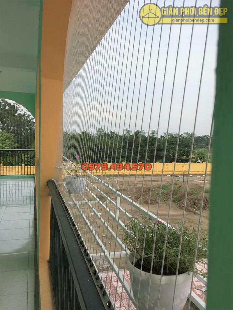 Lắp đặt lưới an toàn trường mầm non Văn Khê huyện Mê Linh