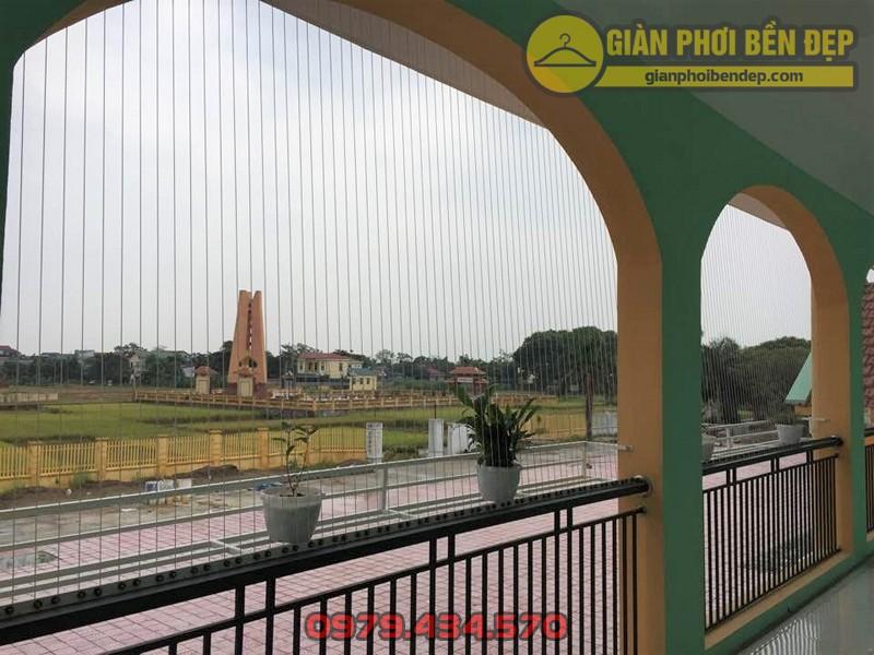 Làm lưới an toàn trường mầm non Văn Khê ở Văn Khê, Mê Linh, Hà Nội