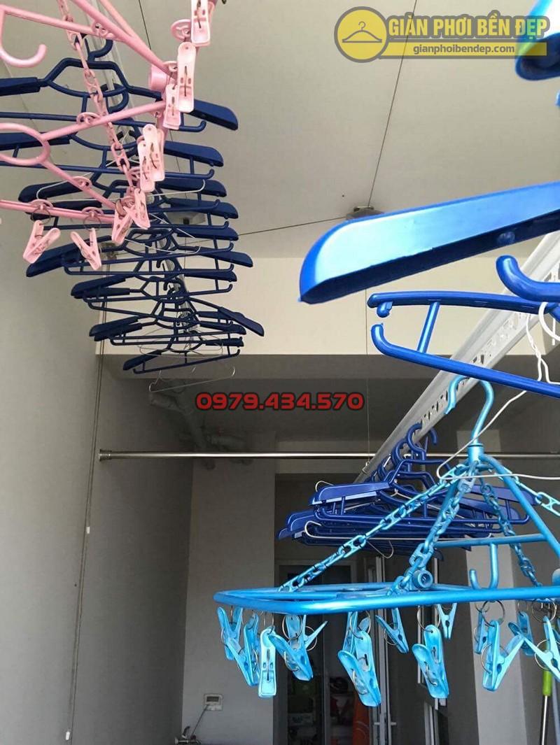 Bộ giàn phơi Hòa Phát HP999B nhà anh Hưng ngõ 9 đường Tô Hiệu