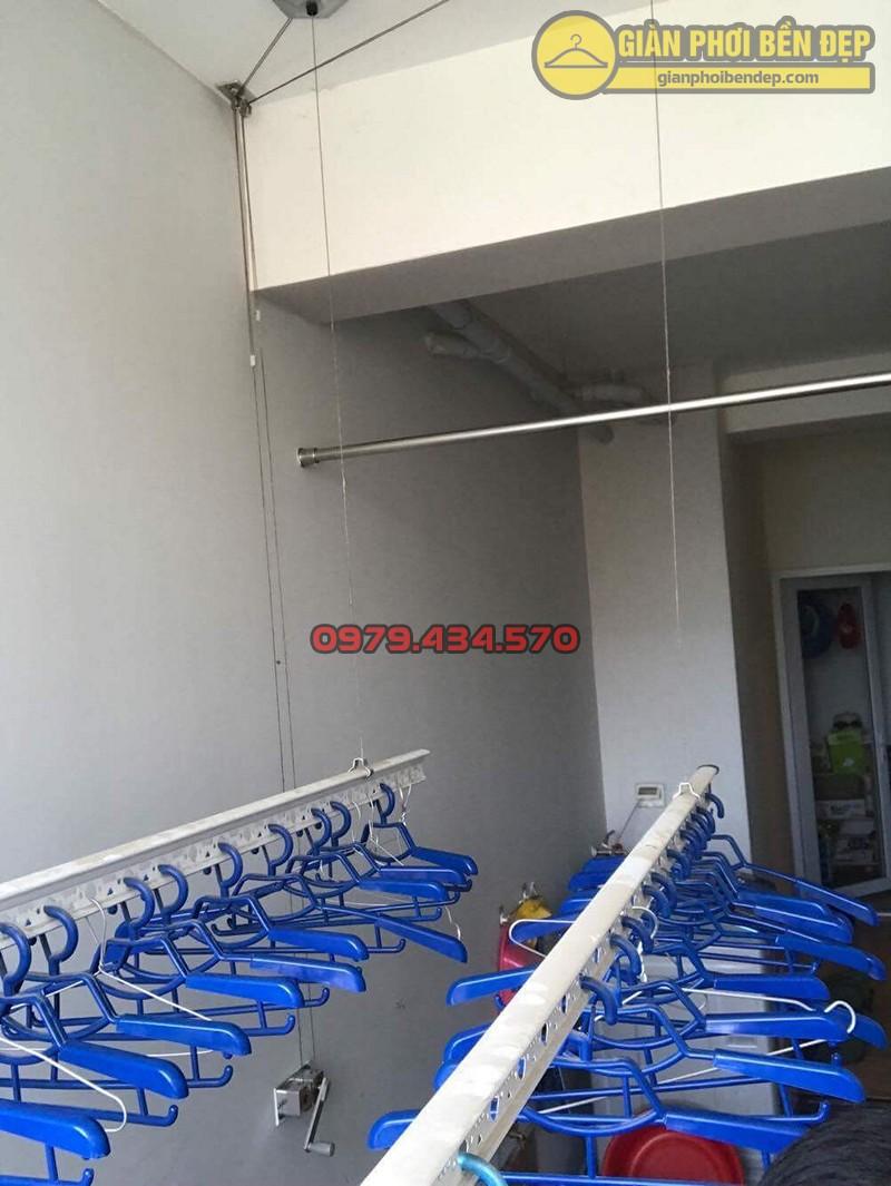 Lắp đặt giàn phơi thông minh Hà Đông - bộ Hòa Phát HP999B, nhà anh Hưng ngõ 9 đường Tô Hiệu