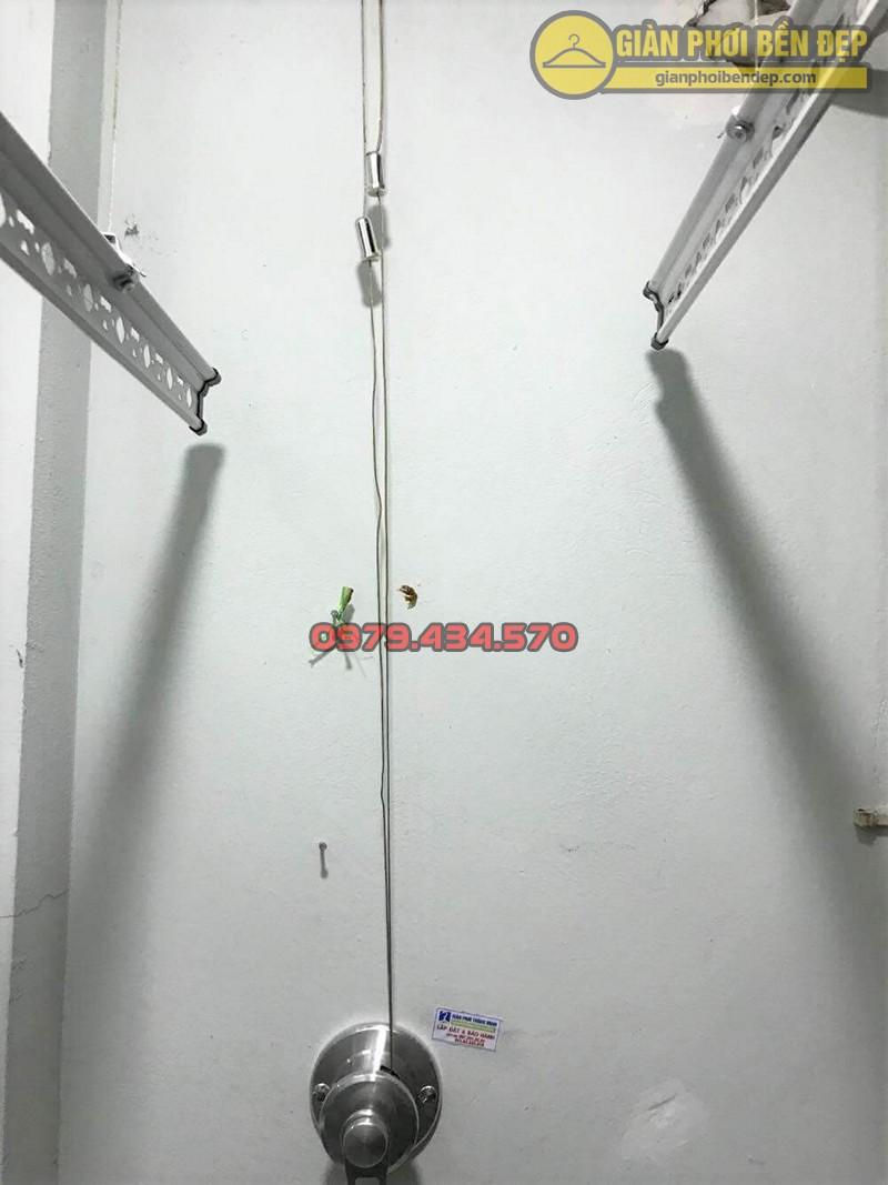 Lắp giàn phơi Ba Đình nhà anh Tuấn ở ngõ 173 Hoàng Hoa Thám