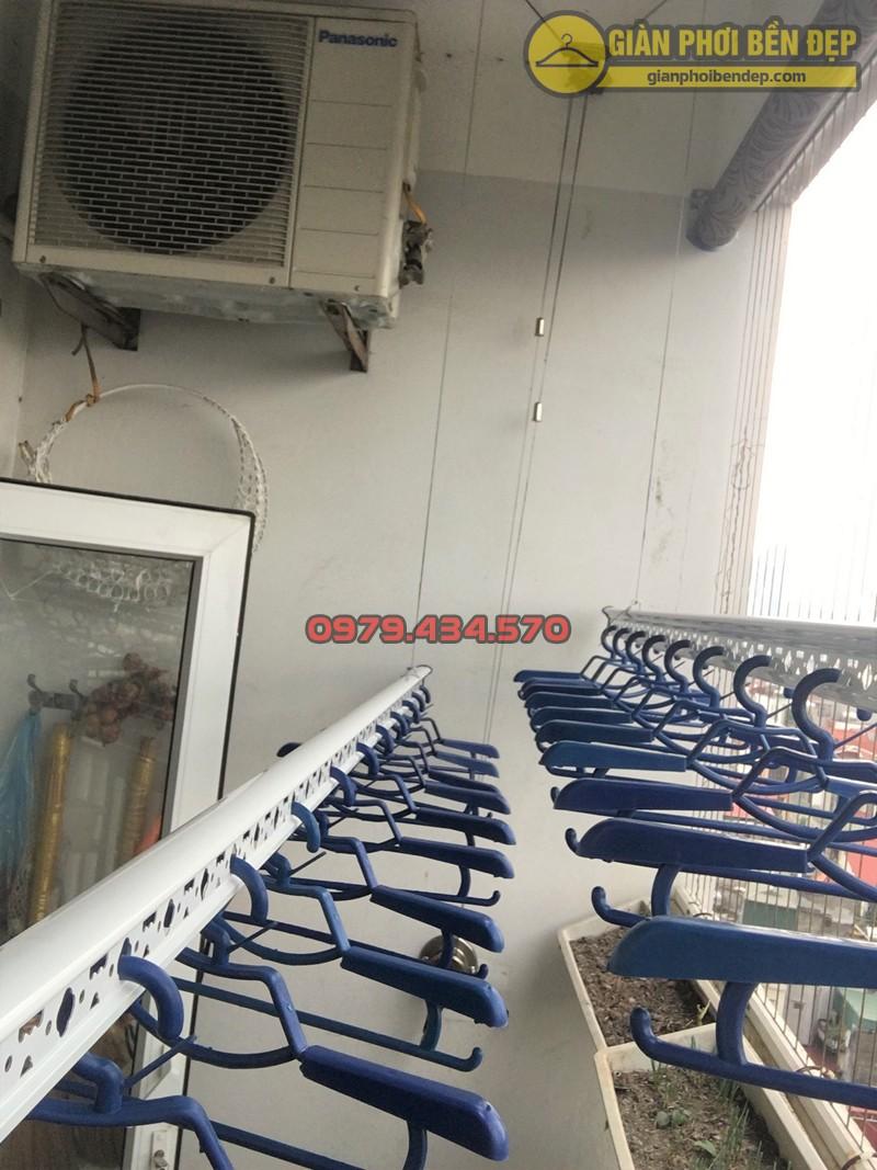 Lắp giàn phơi Đống Đa ở chung cư Sông Hồng nhà cô Thịnh