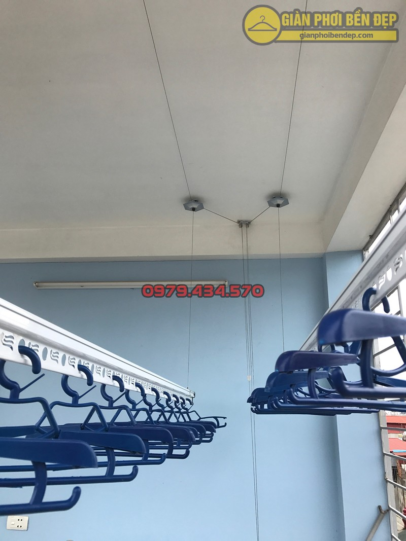 Lắp giàn phơi Hà Đông nhà chị Minh ở KĐT Xa La, bộ giàn phơi thông minh KS950