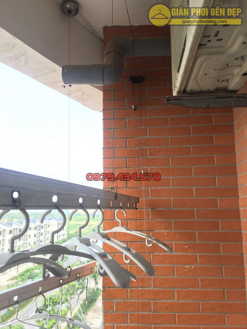Thay dây cáp giàn phơi thông minh Hàn Quốc nhà chị Oanh ở CT2A KĐT Nghĩa Đô