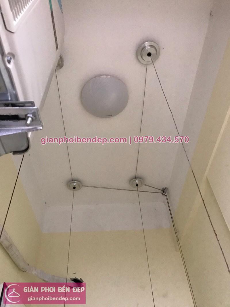 Lắp giàn phơi Cầu Giấy ở chung cư N04 Hoàng Đạo Thúy nhà chị Cẩm