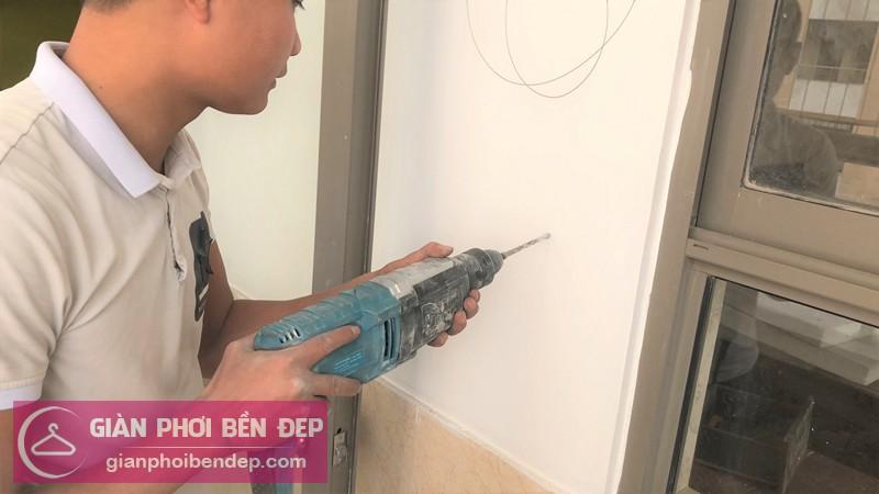 Lắp giàn phơi Hà Đông ở chung cư Nàng Hương nhà chị Phượng