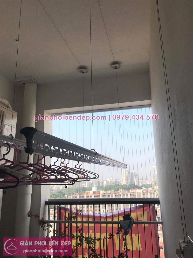 Lắp giàn phơi Cầu Giấy nhà cô Hiền ở Chelsea Park 116 Trung Kính