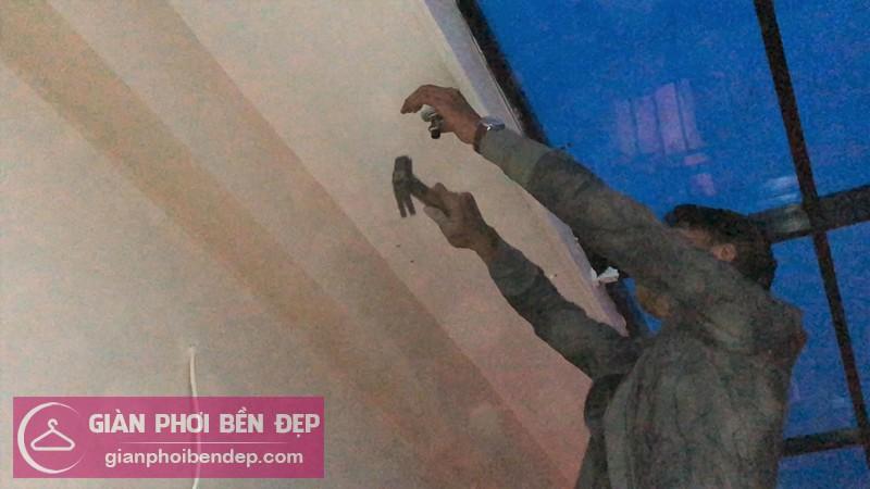 Lắp giàn phơi Long Biên nhà anh Tùng ở ngõ 75 Ngọc Thụy