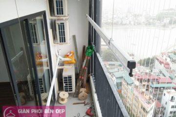 Lắp giàn phơi thông minh nhà chị Miền ở chung cư Five Star số 2 Kim Giang