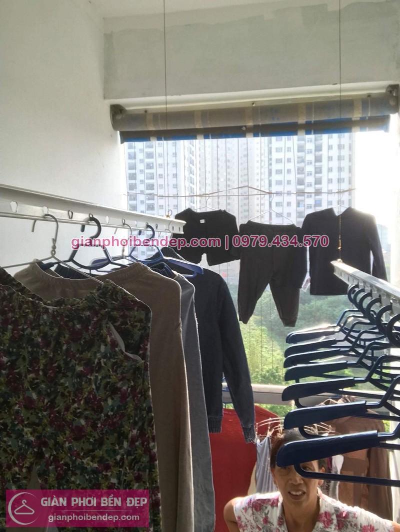 Hình ảnh thực tế bộ giàn phơi quần áo nhà anh Cảnh
