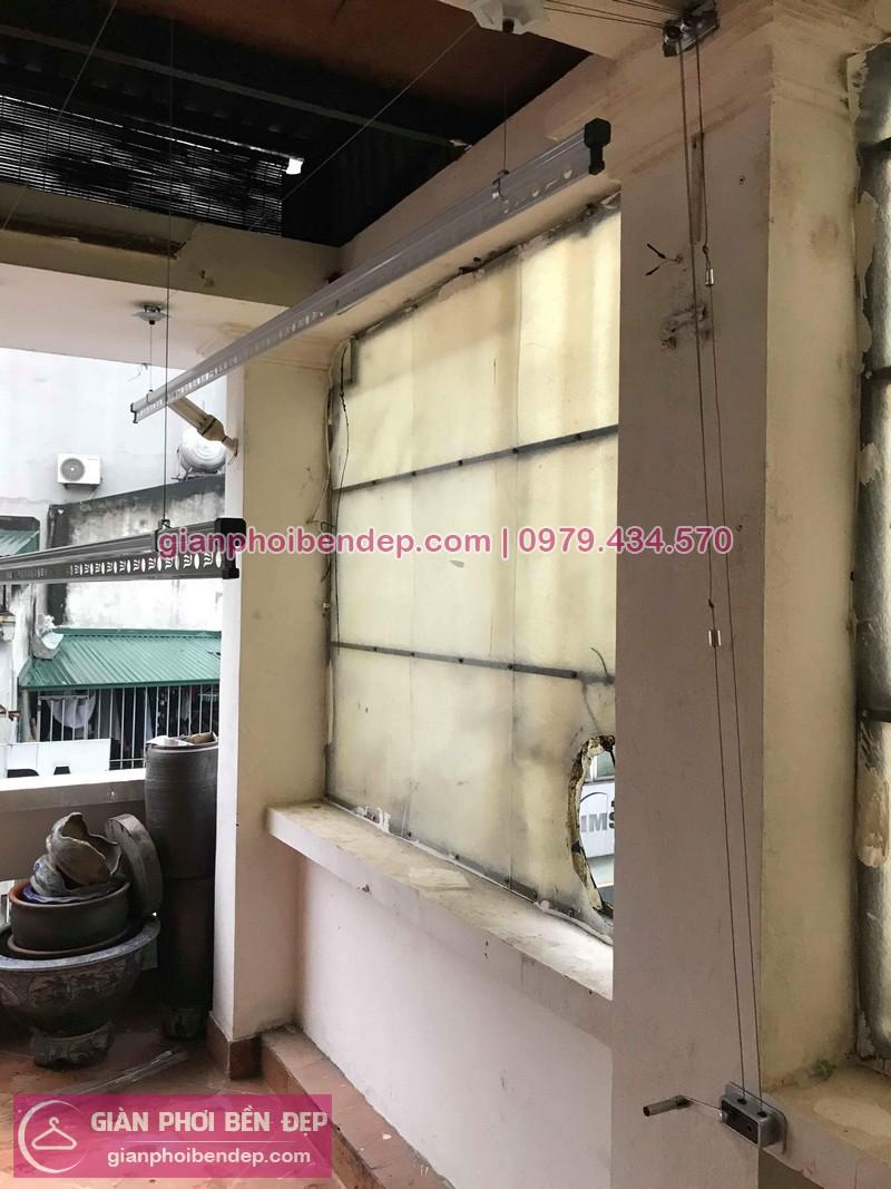 Lắp giàn phơi Hoàn Kiếm nhà chị Hoa ở Đình Ngang